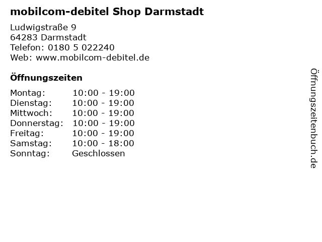 mobilcom-debitel Shop Darmstadt in Darmstadt: Adresse und Öffnungszeiten