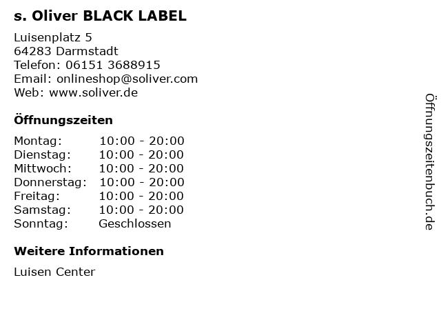 s. Oliver BLACK LABEL in Darmstadt: Adresse und Öffnungszeiten