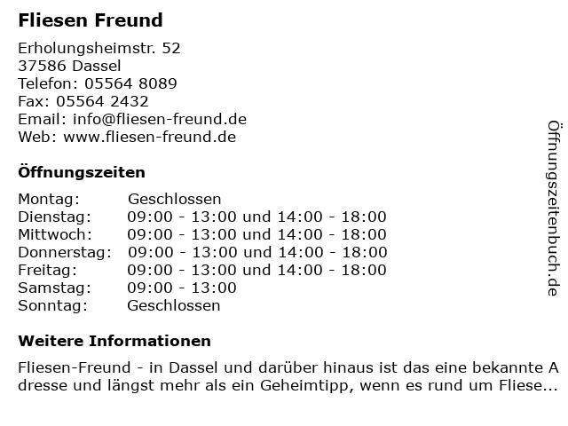 ᐅ Offnungszeiten Axel Freund Fliesenlegermeister