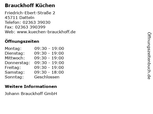 ᐅ Offnungszeiten Brauckhoff Kuchen Friedrich Ebert Strasse 2 In