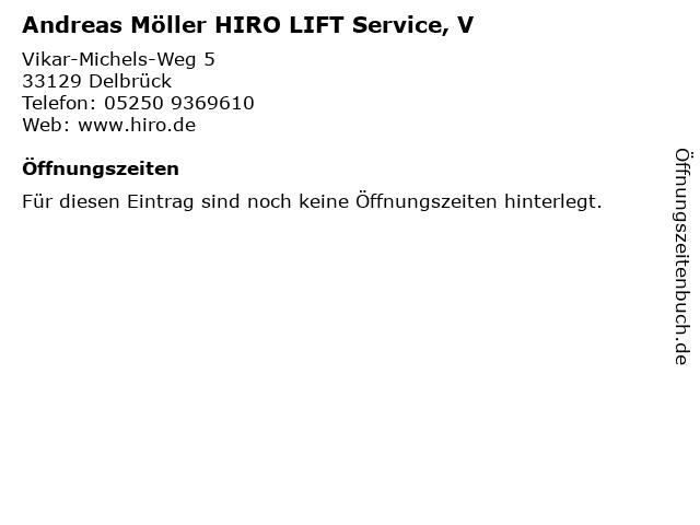 Andreas Möller HIRO LIFT Service, V in Delbrück: Adresse und Öffnungszeiten