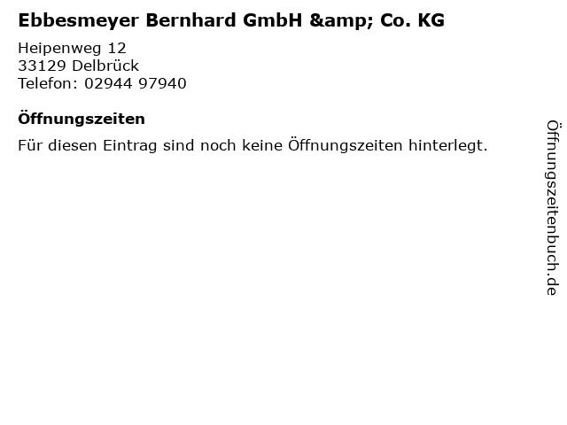 Ebbesmeyer Bernhard GmbH & Co. KG in Delbrück: Adresse und Öffnungszeiten