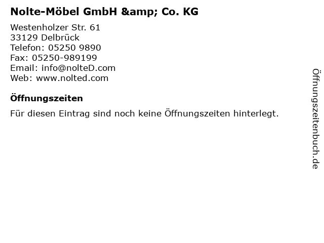 """ᐅ Öffnungszeiten """"Nolte-Möbel GmbH & Co. KG""""   Westenholzer ..."""
