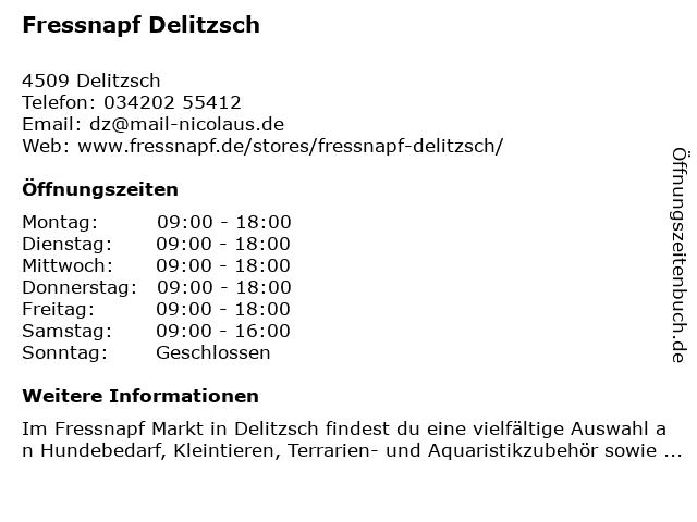 Fressnapf Delitzsch in Delitzsch: Adresse und Öffnungszeiten