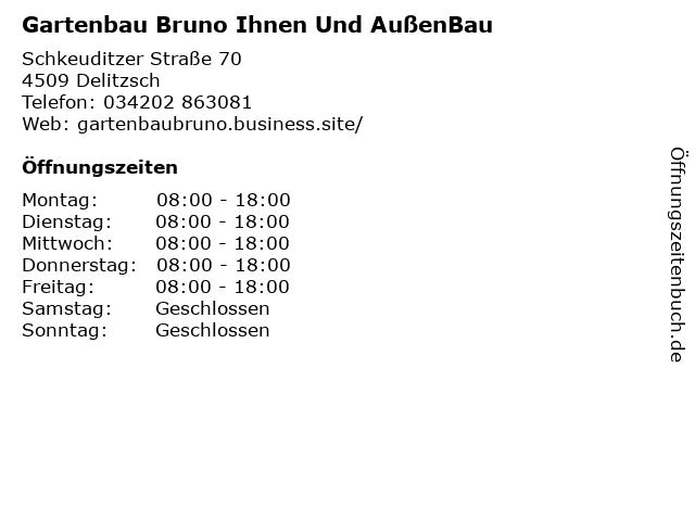 Gartenbau Bruno Ihnen Und AußenBau in Delitzsch: Adresse und Öffnungszeiten