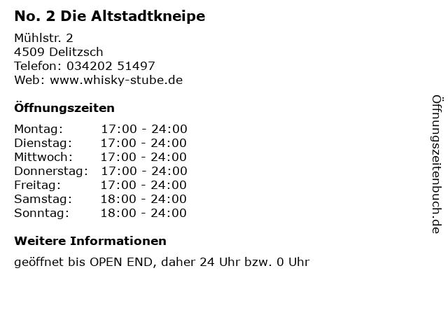 No. 2 Die Altstadtkneipe in Delitzsch: Adresse und Öffnungszeiten