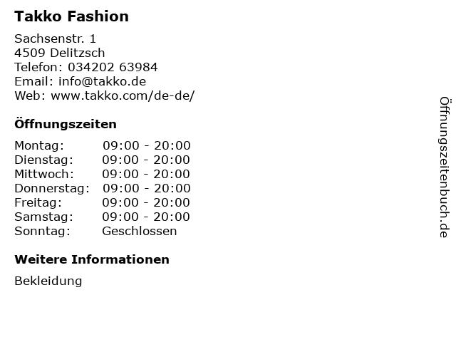 Takko Fashion in Delitzsch: Adresse und Öffnungszeiten