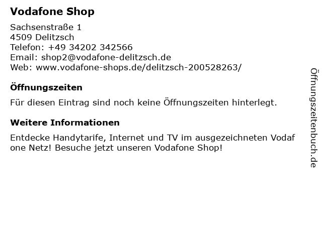 Vodafone Shop in Delitzsch: Adresse und Öffnungszeiten