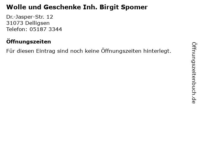 Wolle und Geschenke Inh. Birgit Spomer in Delligsen: Adresse und Öffnungszeiten