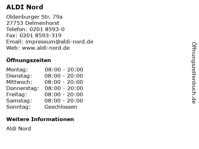 ALDI Nord in Delmenhorst: Adresse und Öffnungszeiten