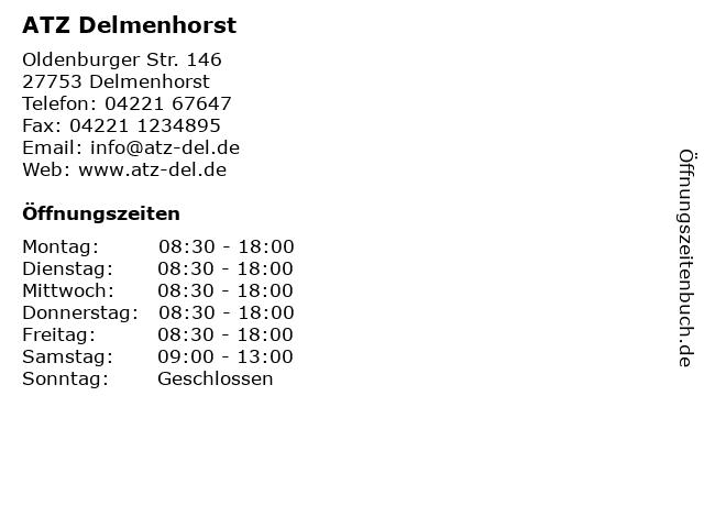 ATZ Delmenhorst in Delmenhorst: Adresse und Öffnungszeiten