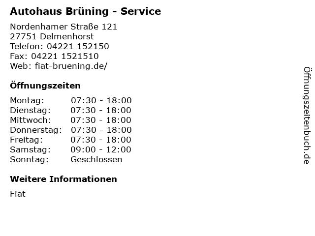Autohaus Brüning - Service in Delmenhorst: Adresse und Öffnungszeiten