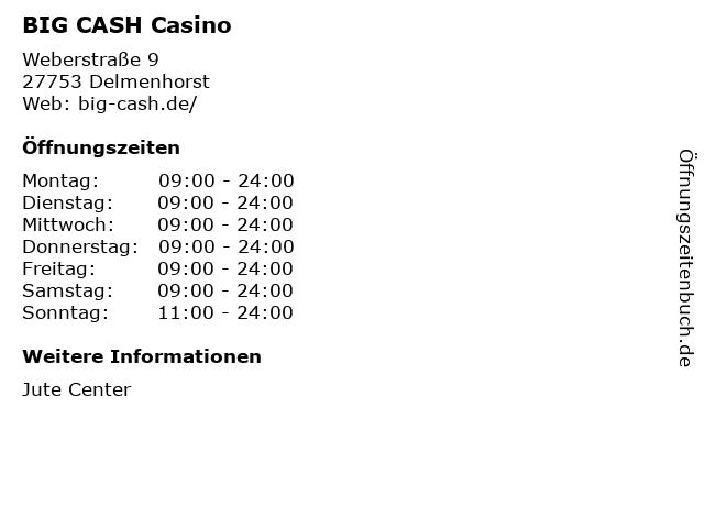 BIG CASH Casino in Delmenhorst: Adresse und Öffnungszeiten