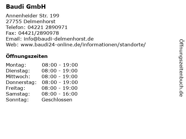 Baudi GmbH in Delmenhorst: Adresse und Öffnungszeiten