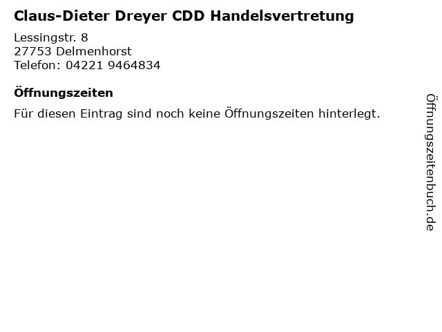 Claus-Dieter Dreyer CDD Handelsvertretung in Delmenhorst: Adresse und Öffnungszeiten