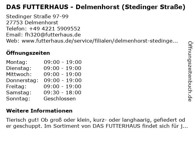Das Futterhaus (Citti-Park) in Delmenhorst: Adresse und Öffnungszeiten