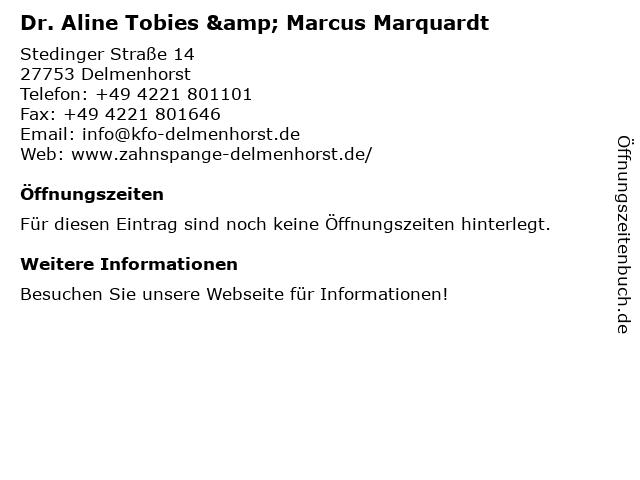Dr. Aline Tobies & Marcus Marquardt in Delmenhorst: Adresse und Öffnungszeiten