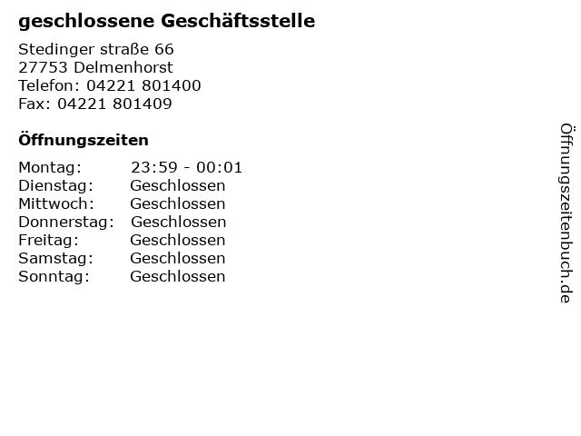 Flying Pizza in Delmenhorst: Adresse und Öffnungszeiten