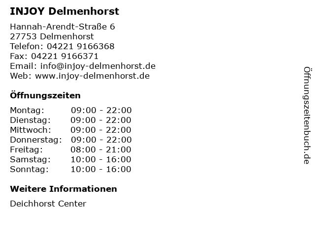INJOY Delmenhorst in Delmenhorst: Adresse und Öffnungszeiten