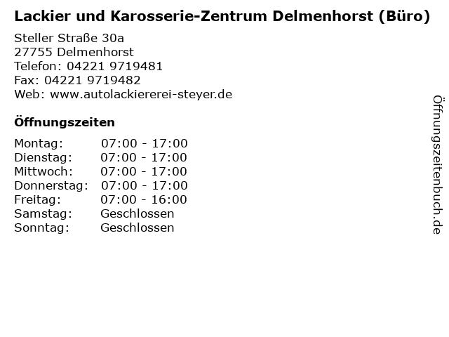 Lackier und Karosserie-Zentrum Delmenhorst (Büro) in Delmenhorst: Adresse und Öffnungszeiten