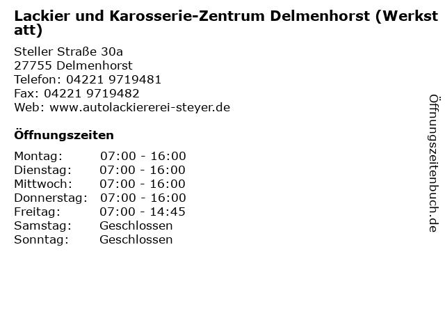 Lackier und Karosserie-Zentrum Delmenhorst (Werkstatt) in Delmenhorst: Adresse und Öffnungszeiten