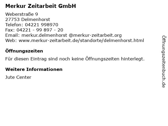 Merkur Zeitarbeit GmbH in Delmenhorst: Adresse und Öffnungszeiten
