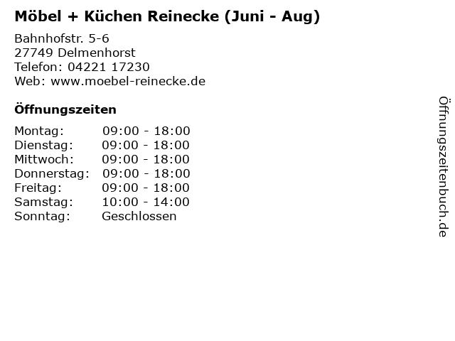 ᐅ Offnungszeiten Mobel Kuchen Reinecke Juni Aug