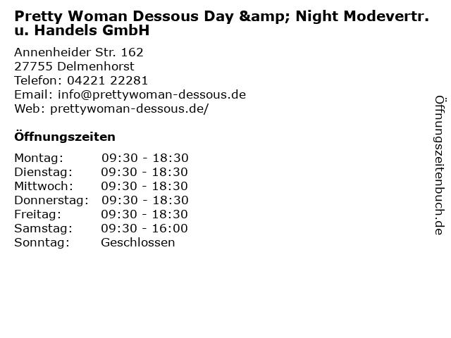 Pretty Woman Dessous Day & Night Modevertr. u. Handels GmbH in Delmenhorst: Adresse und Öffnungszeiten