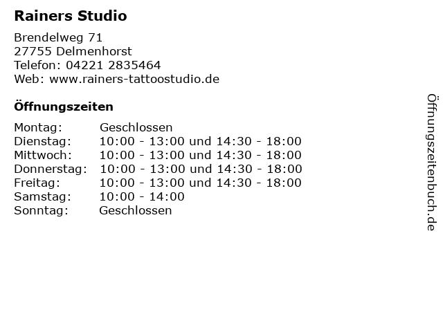 Rainers Studio in Delmenhorst: Adresse und Öffnungszeiten