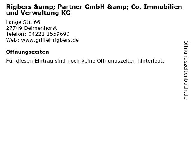 Rigbers & Partner GmbH & Co. Immobilien und Verwaltung KG in Delmenhorst: Adresse und Öffnungszeiten