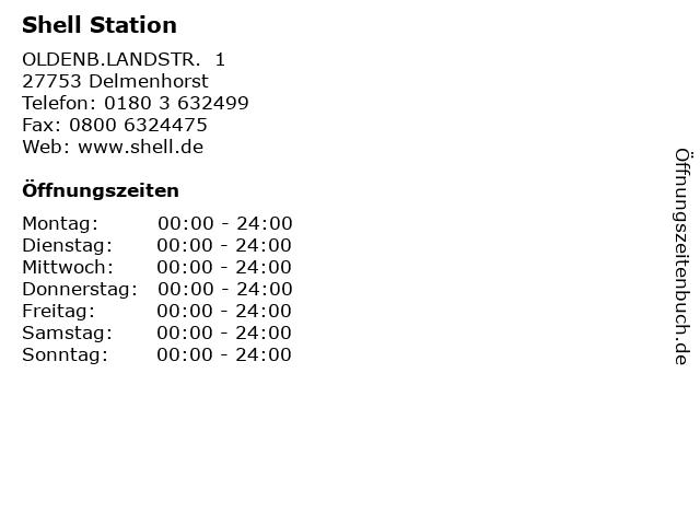 Shell Station in Delmenhorst: Adresse und Öffnungszeiten