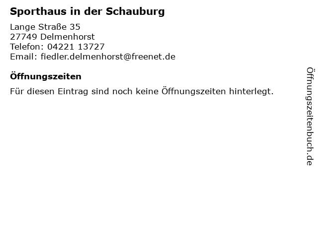 Sporthaus in der Schauburg in Delmenhorst: Adresse und Öffnungszeiten