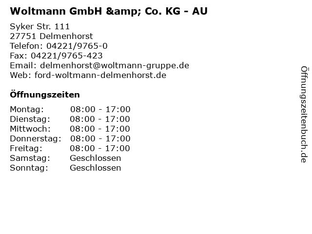 Woltmann GmbH & Co. KG - AU in Delmenhorst: Adresse und Öffnungszeiten