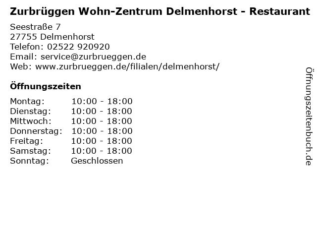 Zurbrüggen Wohn-Zentrum Delmenhorst - Restaurant in Delmenhorst: Adresse und Öffnungszeiten
