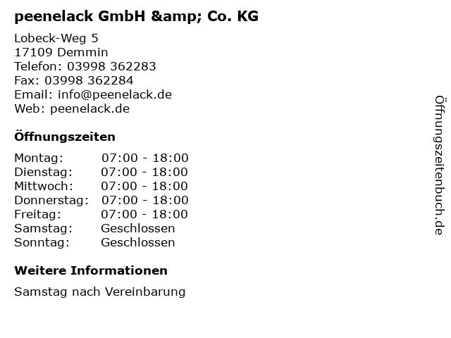 Reinhard Junck Autolackiererei in Demmin: Adresse und Öffnungszeiten
