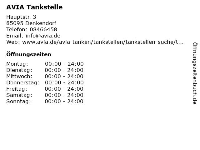 AVIA Tankstelle in Denkendorf: Adresse und Öffnungszeiten