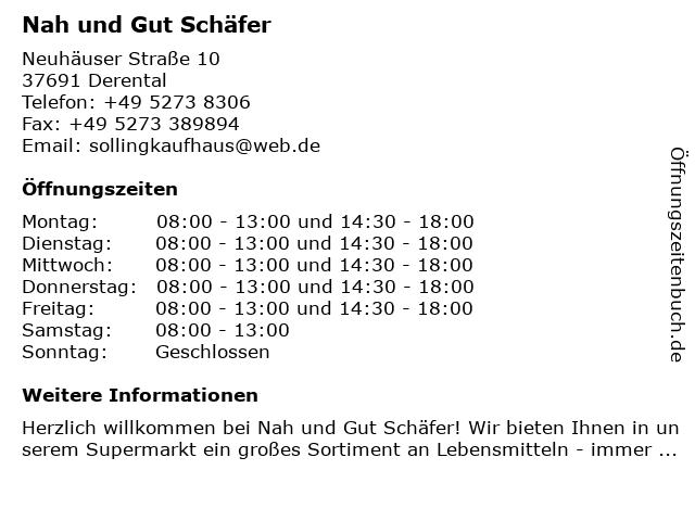 Nah und Gut Schäfer in Derental: Adresse und Öffnungszeiten