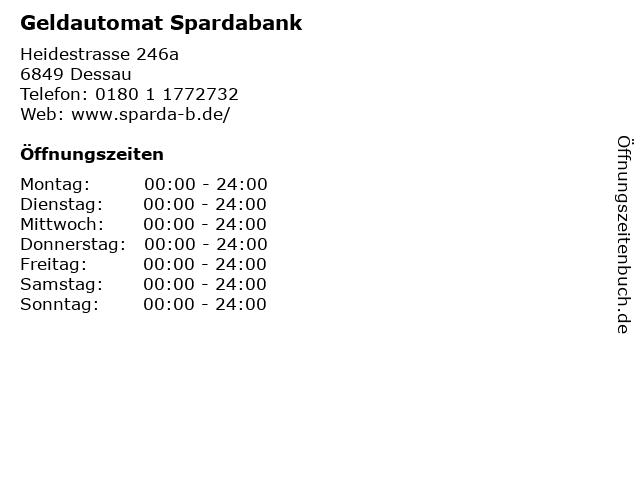 Geldautomat Spardabank in Dessau: Adresse und Öffnungszeiten