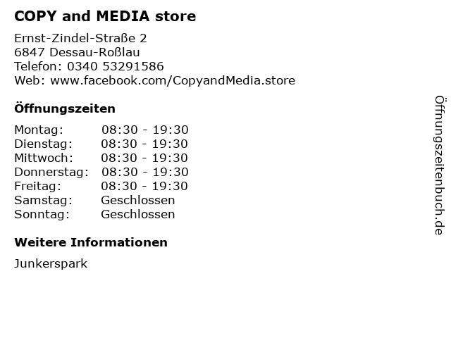 COPY and MEDIA store in Dessau-Roßlau: Adresse und Öffnungszeiten