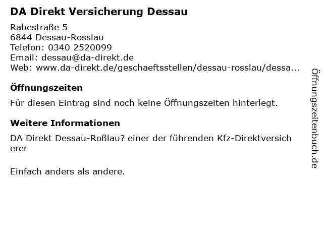 DA Direkt Versicherung Dessau in Dessau-Rosslau: Adresse und Öffnungszeiten