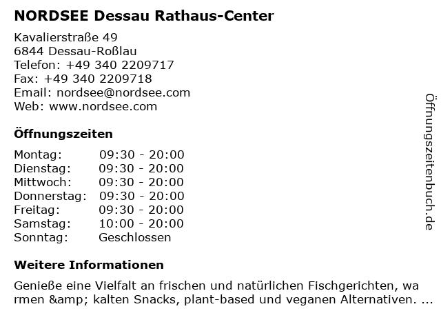 NORDSEE GmbH in Dessau-Roßlau: Adresse und Öffnungszeiten