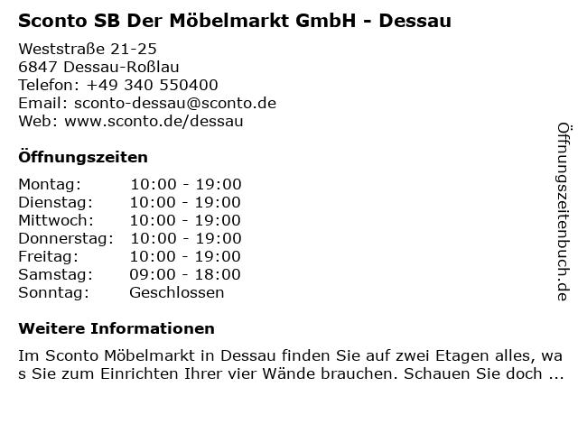 f2a613a0e2b279 Bilder zu Sconto SB Der Möbelmarkt GmbH - Dessau in Dessau-Roßlau