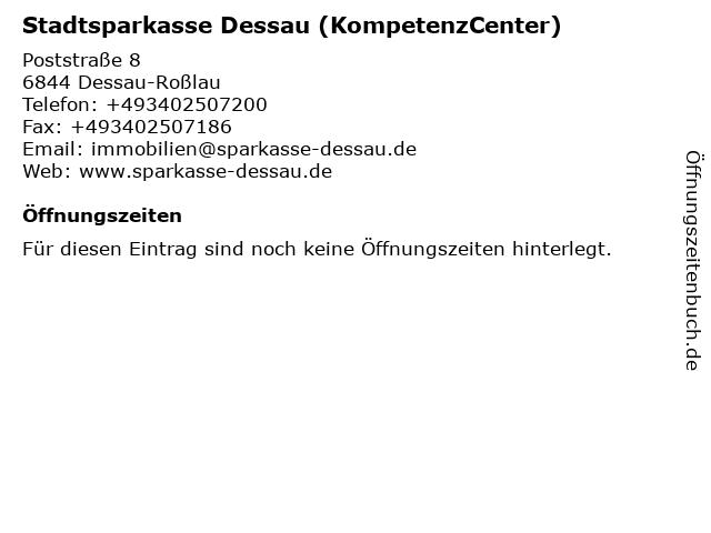 Stadtsparkasse Dessau - KompetenzCenter Bauhausstadt - PrivatkundenCenter in Dessau-Roßlau: Adresse und Öffnungszeiten