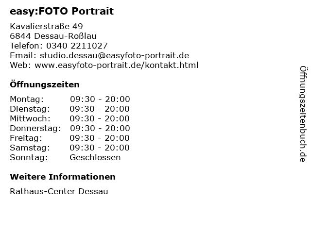 easy:FOTO Portrait in Dessau-Roßlau: Adresse und Öffnungszeiten