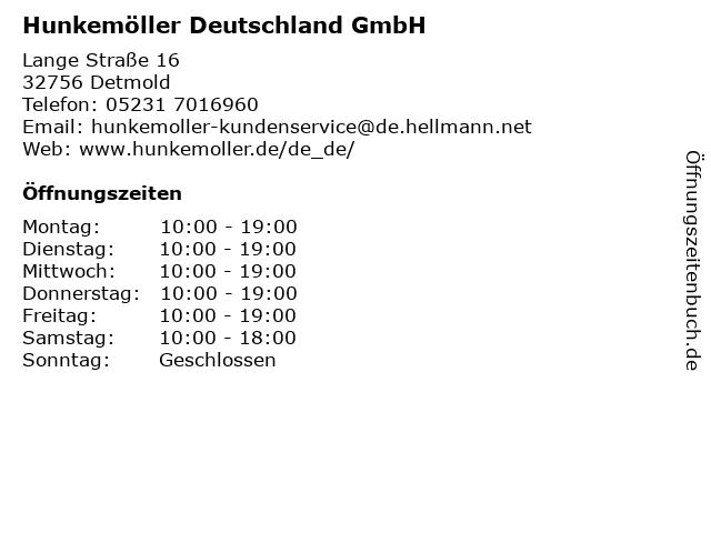 Hunkemöller Deutschland GmbH in Detmold: Adresse und Öffnungszeiten