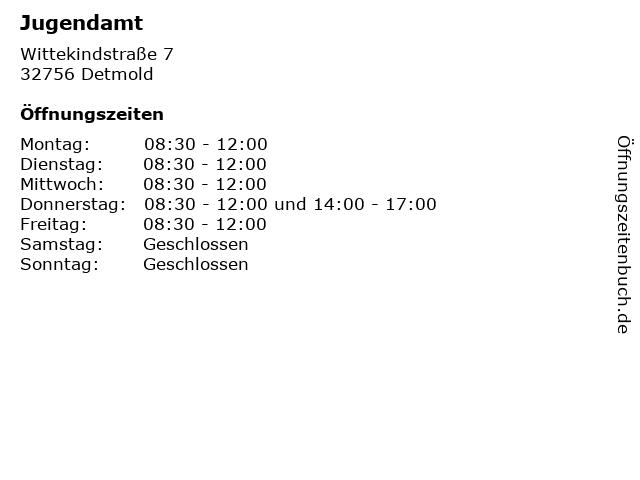 Jugendamt in Detmold: Adresse und Öffnungszeiten