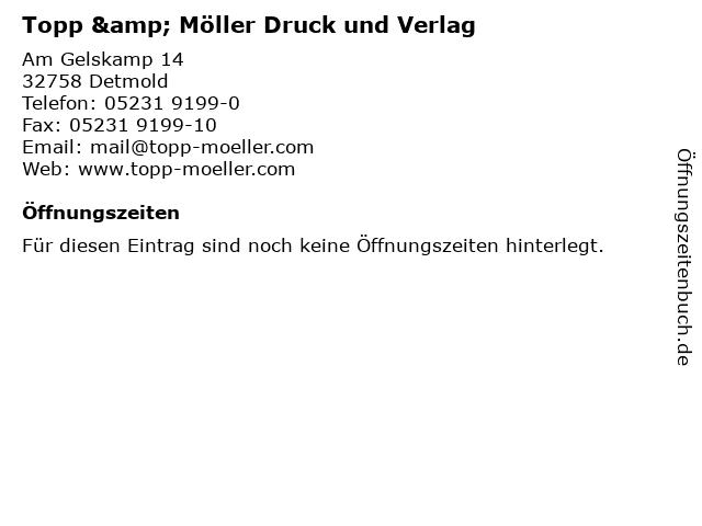 Topp & Möller Druck und Verlag in Detmold: Adresse und Öffnungszeiten