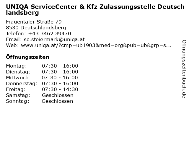 ᐅ Offnungszeiten Uniqa Osterreich Versicherungen Ag Servicecenter