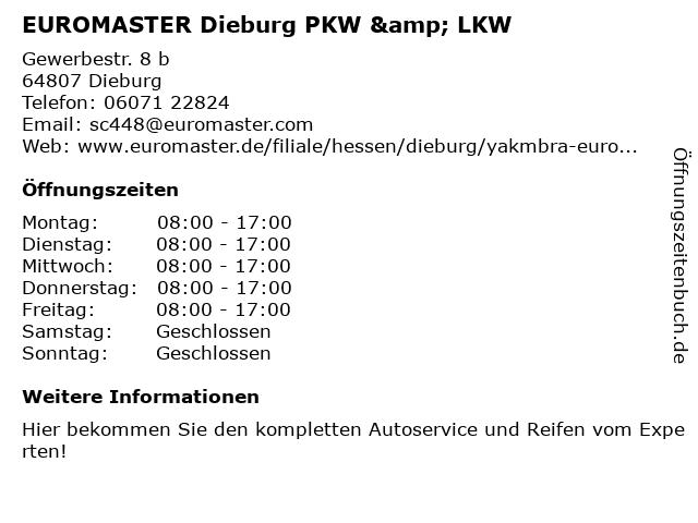 EUROMASTER GmbH in Dieburg: Adresse und Öffnungszeiten