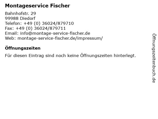 Montageservice Fischer in Diedorf: Adresse und Öffnungszeiten